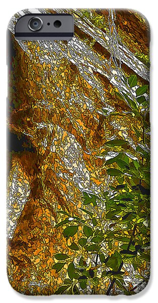 Overhang Digital iPhone Cases - Water From Rock-DP iPhone Case by Nancy Marie Ricketts
