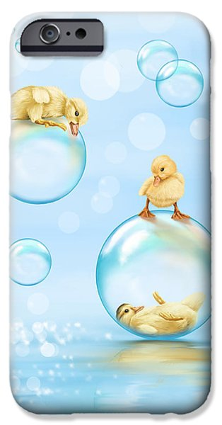 Ipad iPhone Cases - Water games iPhone Case by Veronica Minozzi