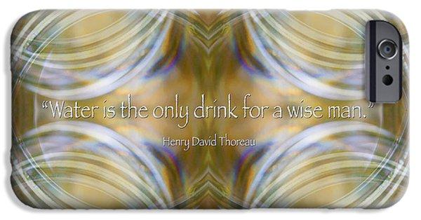 Henry David Thoreau iPhone Cases - Water - Henry David Thoreau iPhone Case by Susan Bloom