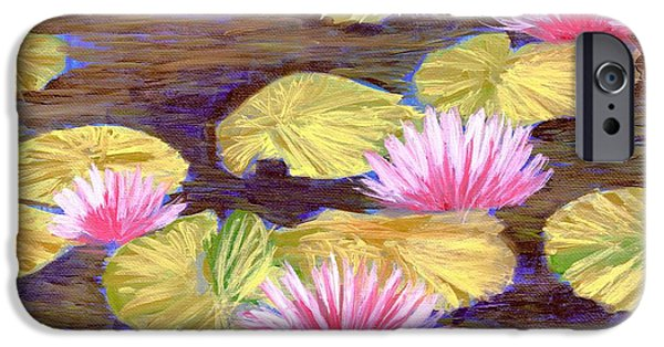 Flora iPhone Cases - Water Lilies 1 iPhone Case by Melissa Herrin
