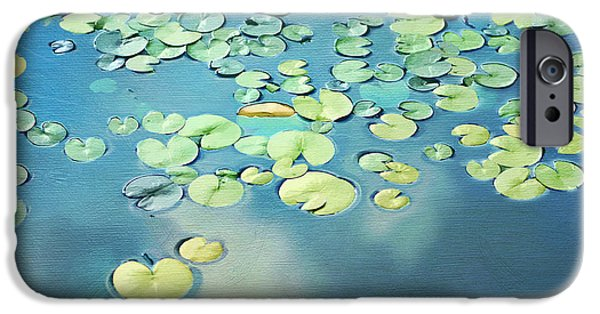 Water Lilly iPhone Cases - Water Lilies iPhone Case by Darren Fisher
