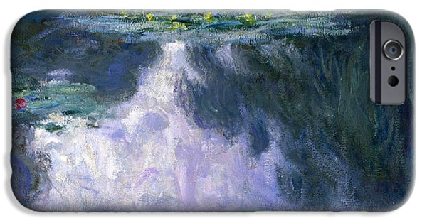 1907 Paintings iPhone Cases - Water Lilies Nympheas iPhone Case by Claude Monet