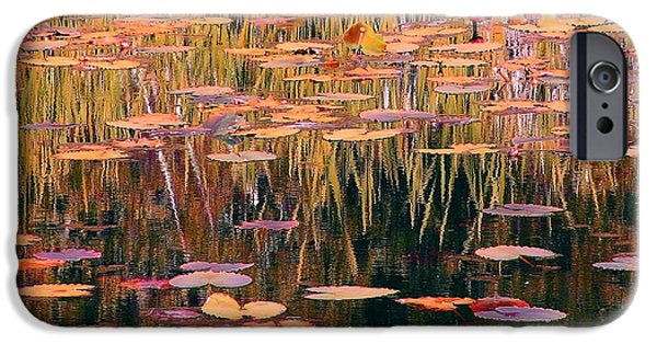 Recently Sold -  - Painter Photographs iPhone Cases - Water Lilies Re Do iPhone Case by Chris Anderson