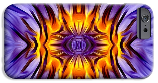 Waterlily iPhone Cases - Water Lily Abstract iPhone Case by Susan Candelario