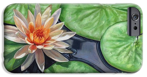 Fauna iPhone Cases - Water Lily iPhone Case by David Stribbling