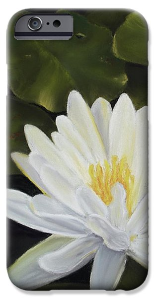 Botanical Pastels iPhone Cases - Water Lily iPhone Case by Joan Swanson