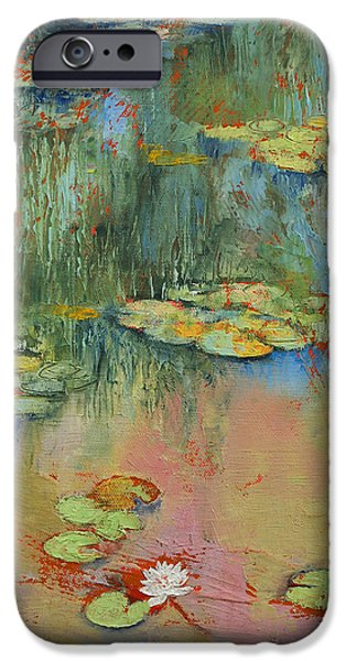 Water Lilly iPhone Cases - Water Lily iPhone Case by Michael Creese