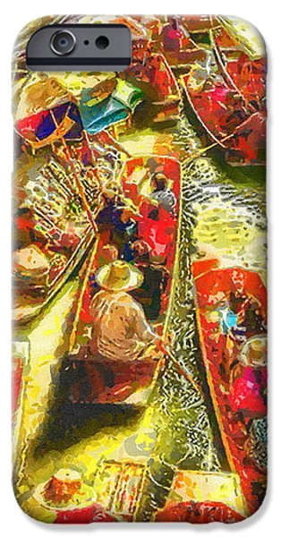 Culture iPhone Cases - Water Market iPhone Case by Mo T