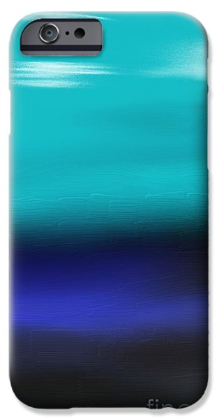Abstract Beach Landscape Drawings iPhone Cases - Water meets Sky iPhone Case by Jerod Roberts