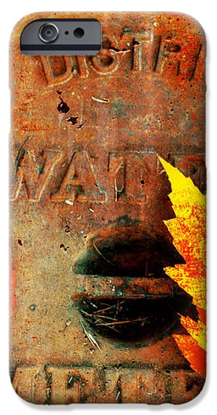 Water Meter Cover With Autumn Leaves Abstract iPhone Case by Andee Design