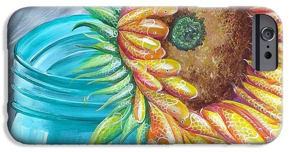 Water Jars Paintings iPhone Cases - Water of Life iPhone Case by Deda Happel
