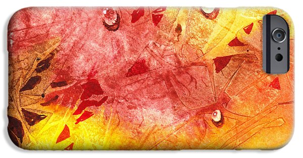 Abstractions iPhone Cases - Water On Color Design Nine iPhone Case by Irina Sztukowski