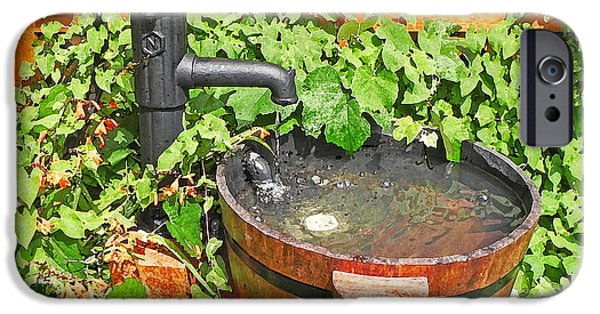 Rain Barrel iPhone Cases - Water pump and rain barrel iPhone Case by Anthony Dalton