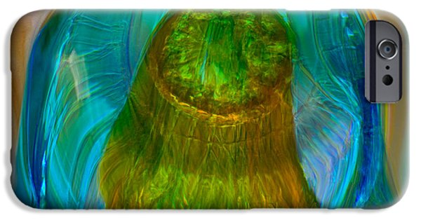 Van Goh Glass Art iPhone Cases - Water Realm iPhone Case by Omaste Witkowski