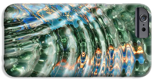 Reflection In Water iPhone Cases - Water Ripples iPhone Case by Cheryl Young