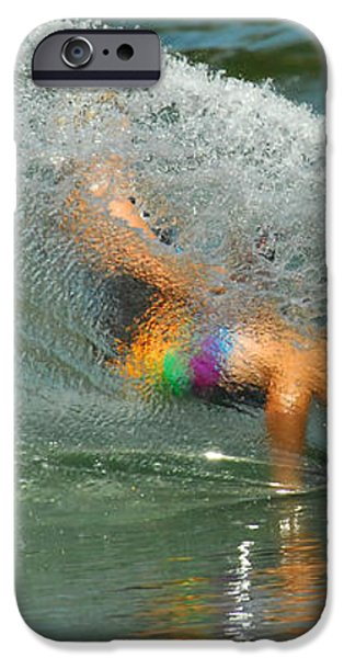 Water Skiing 5 Magic of Water iPhone Case by Bob Christopher