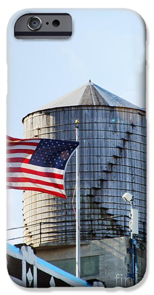 Water In Caves iPhone Cases - Water tower Americana iPhone Case by Anahi DeCanio