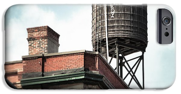 Gary Heller iPhone Cases - Water Tower in New York City - New York Water Tower 13 iPhone Case by Gary Heller
