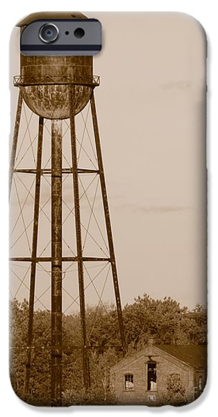 Reservoir iPhone Cases - Water Tower iPhone Case by Olivier Le Queinec