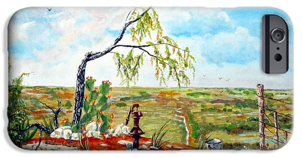 Michael iPhone Cases - Southwest Texas Water Tree iPhone Case by Michael Dillon