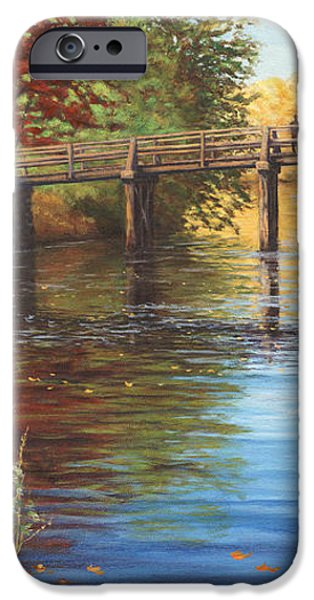 Water Under the Bridge Old North Bridge MA iPhone Case by Elaine Farmer