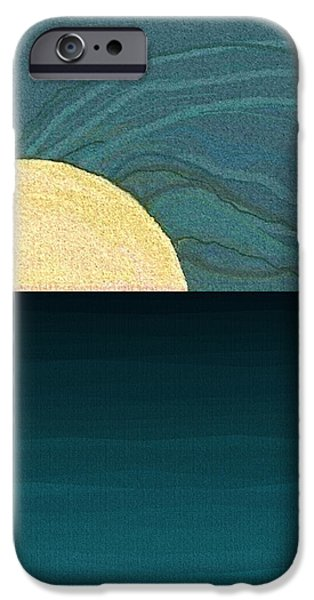 Abstract Seascape iPhone Cases - Water iPhone Case by Val Arie