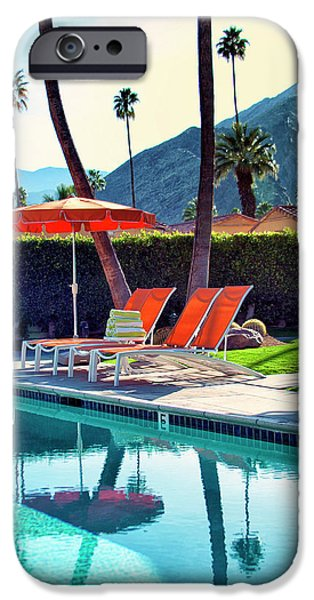 Relaxed iPhone Cases - WATER WAITING Palm Springs iPhone Case by William Dey