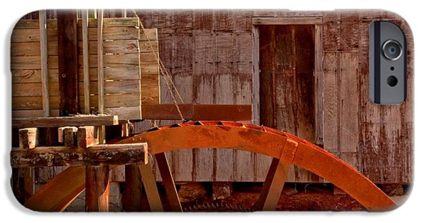 Grist Mill iPhone Cases - Water Wheel At McKinney Grist Mill iPhone Case by Adam Jewell