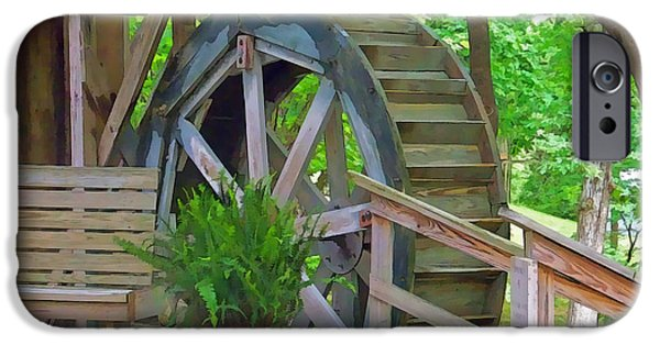 Arkansas Mixed Media iPhone Cases - Water Wheel iPhone Case by Julie  Grace