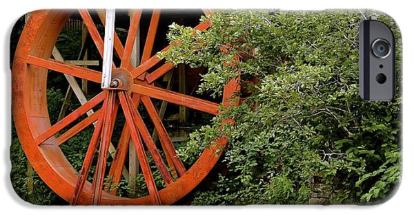 Grist Mill iPhone Cases - Water Wheel  iPhone Case by Lynn R Morris