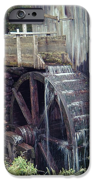 Industry iPhone Cases - Water Wheel iPhone Case by Phyllis Taylor