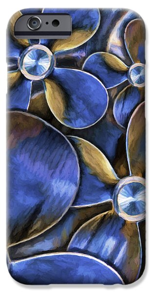 Stainless Steel Paintings iPhone Cases - Water Wheels iPhone Case by David Wagner