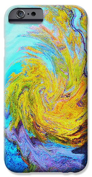 Ann Johndro-collins iPhone Cases - Water Whirl iPhone Case by Ann Johndro-Collins