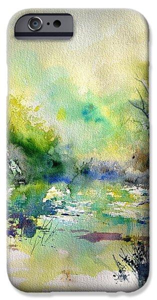 Lanscape iPhone Cases - Watercolor 45319041 iPhone Case by Pol Ledent