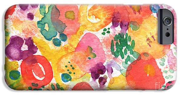 Daisy iPhone Cases - Watercolor Garden iPhone Case by Linda Woods