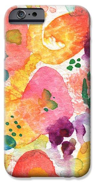 Watercolor Garden iPhone Case by Linda Woods
