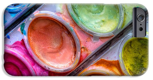Painter Photographs iPhone Cases - Watercolor Ovals One iPhone Case by Heidi Smith