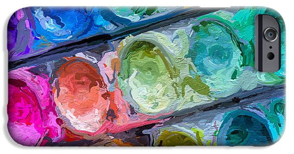 Painter Photographs iPhone Cases - Watercolor Ovals Two iPhone Case by Heidi Smith