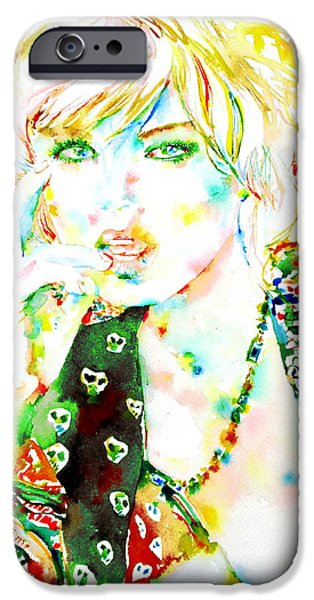WATERCOLOR WOMAN.3 iPhone Case by Fabrizio Cassetta