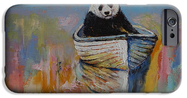 Michael Paintings iPhone Cases - Watercolors iPhone Case by Michael Creese
