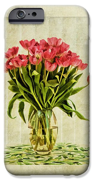 Watercolour Tulips iPhone Case by John Edwards