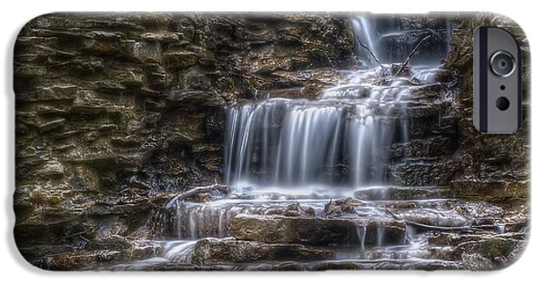 Creek iPhone Cases - Waterfall 2 iPhone Case by Scott Norris