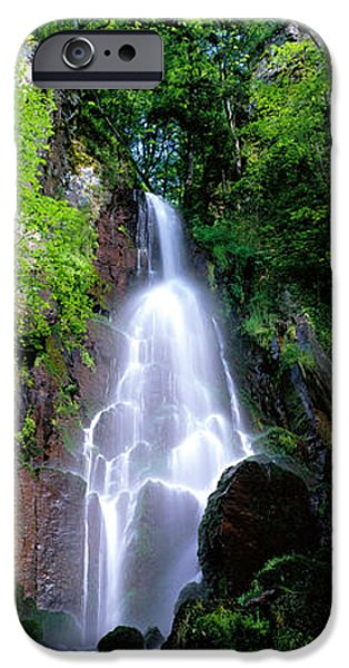 Descending iPhone Cases - Waterfall Alsace France iPhone Case by Panoramic Images