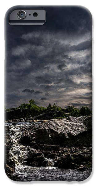 Waterfall at Sunrise iPhone Case by Bob Orsillo