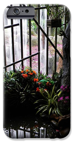 Bamboo Fence iPhone Cases - Waterfall Color iPhone Case by Warren Thompson