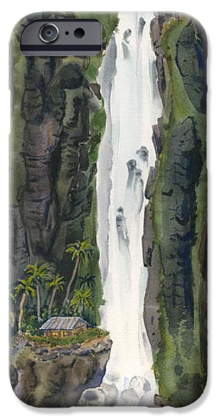 Michael Paintings iPhone Cases - Waterfall Cottage iPhone Case by Michael Donenfeld