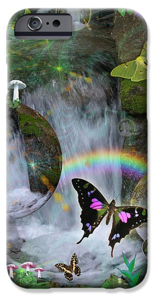 Waterfall Daydream iPhone Case by Alixandra Mullins