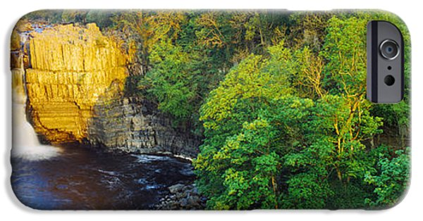River View iPhone Cases - Waterfall In A Forest, High Force iPhone Case by Panoramic Images