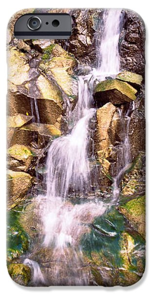 Forest iPhone Cases - Waterfall In A Forest iPhone Case by Panoramic Images