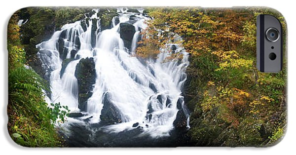 Swallows iPhone Cases - Waterfall In A Forest, Swallow Falls iPhone Case by Panoramic Images